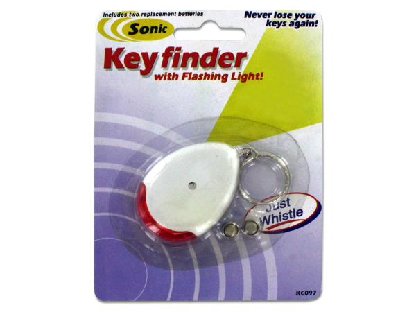Sonic sound key chain finder with flashing light