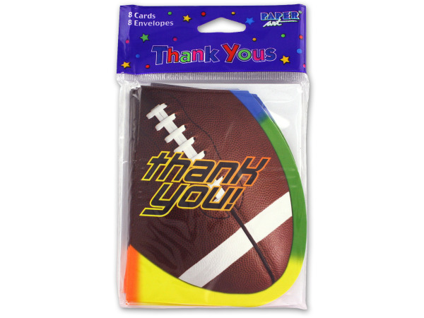 """Thank You"" football cards"
