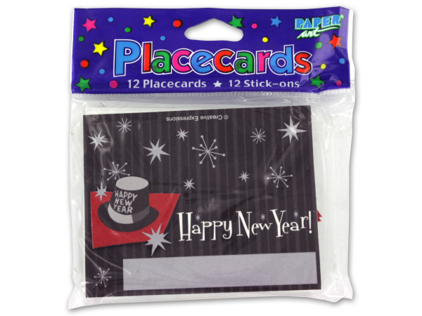 New Year's placecards, pack of 12