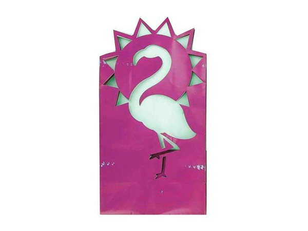 Flamingo luminary bag