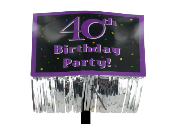40th Birthday Party yard sign with fringe