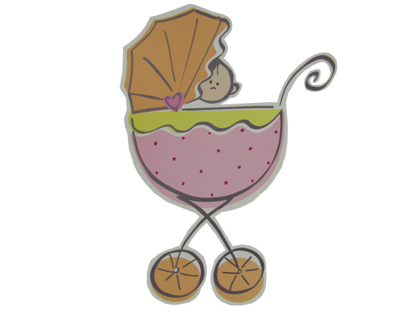 carriage baby girl cut-out