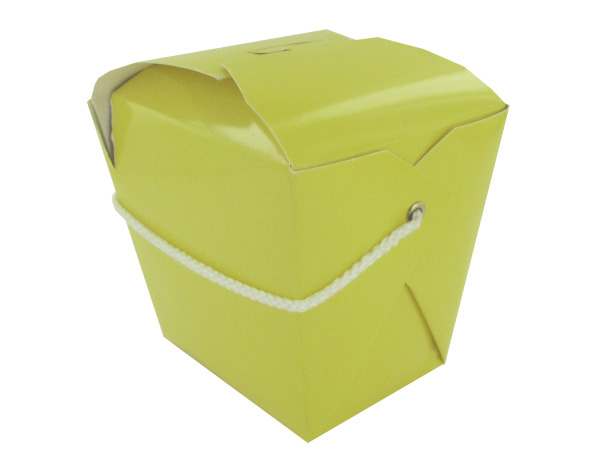 Yellow mini take-out container