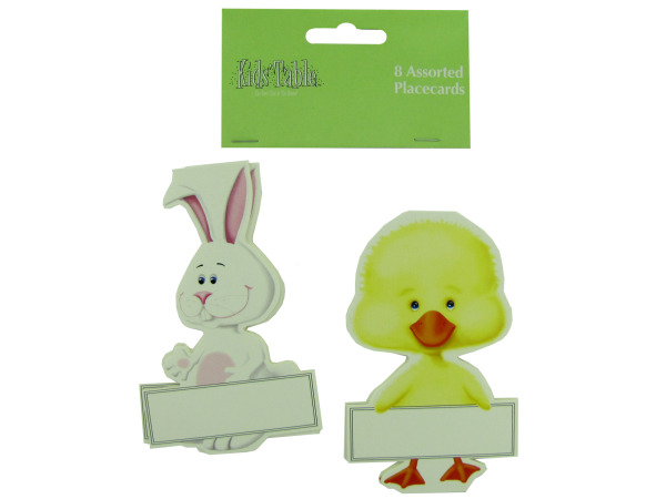 Bunny and chick place cards, pack of 8