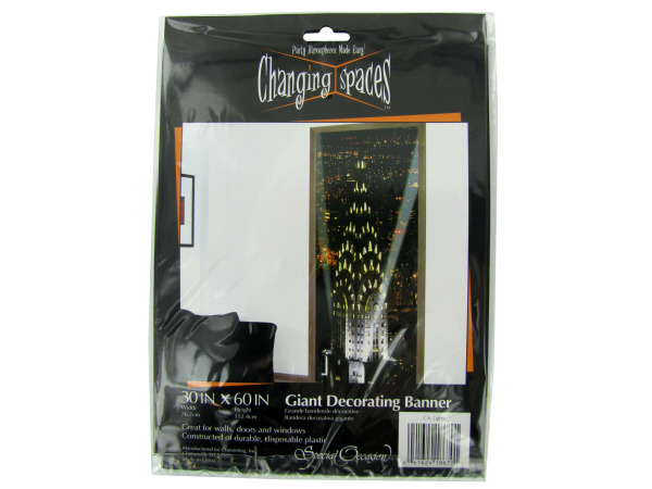 City Lights giant decorating banner