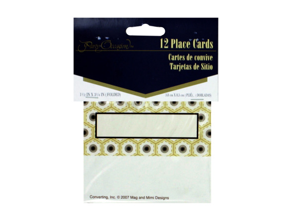 Deco placecards, pack of 12