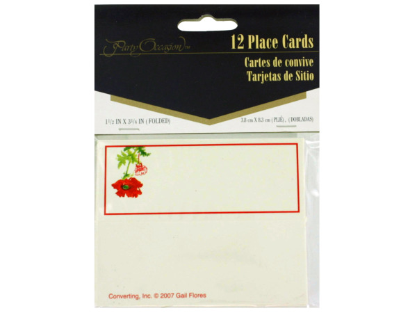 Red Poppy Place Cards