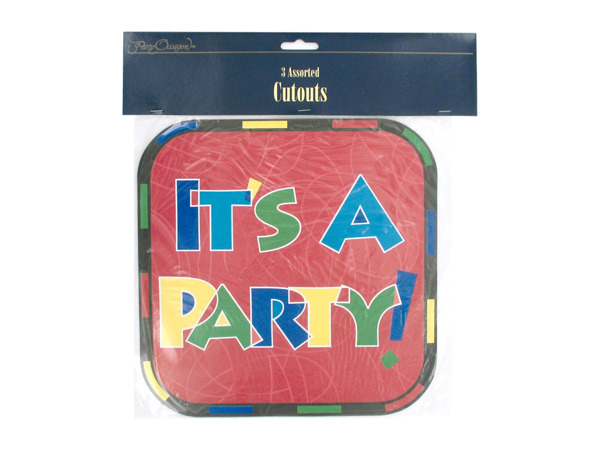 """It's a Party"" cut-outs"