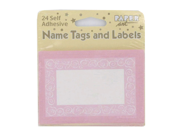 Self-adhesive tags and labels, pack of 24