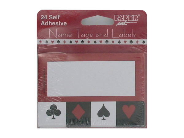 Card Night name tags/labels, package of 24