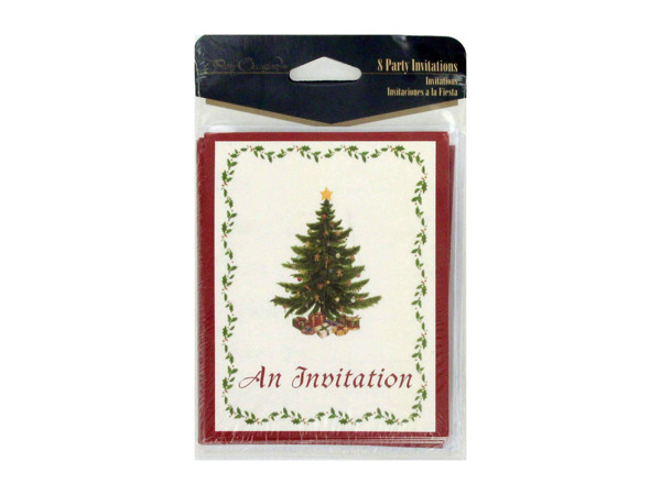 Classic Christmas invitations, pack of 8