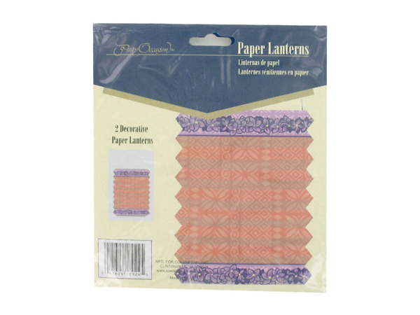 Floral Tropicana decorative paper lanterns, pack of 2