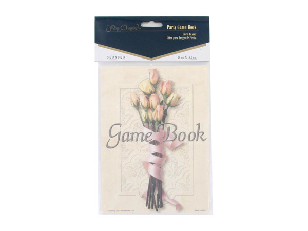 Bridal shower party game book, floral bouquet