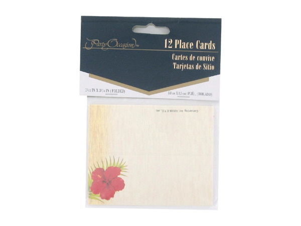 Floral Chic place cards, pack of 12