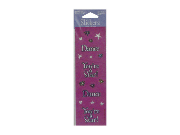 Glitter dance stickers, pack of 4