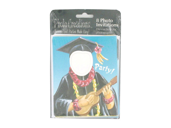 Luau themed graduation invitations