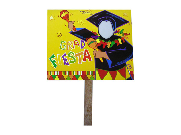 grad fiesta two sided yard sign