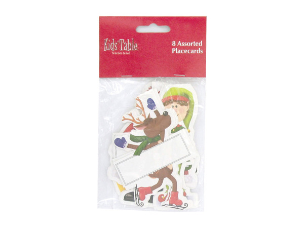 Holiday Fun kid's place cards, pack of 8