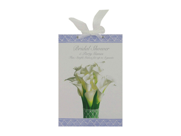 Bridal shower party game book, lily bouquet