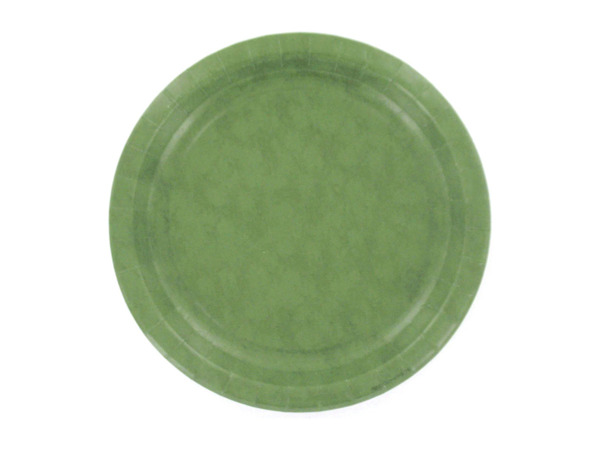 Sage colored paper plates