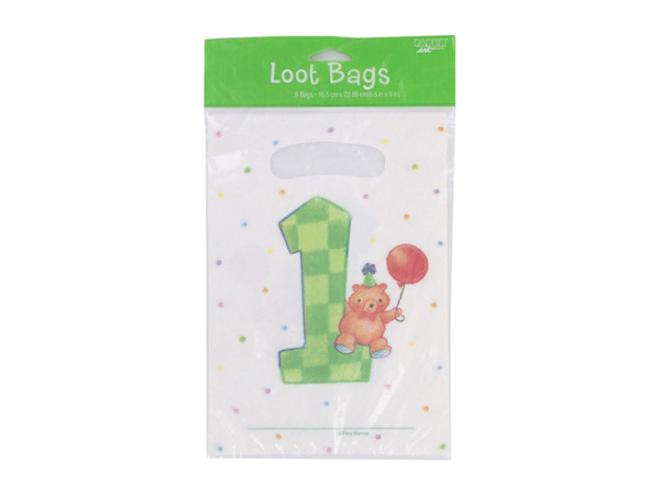 My First Birthday loot bags, goodie bags, pack of 8
