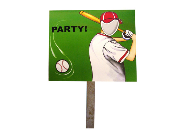 baseball photo yard sign