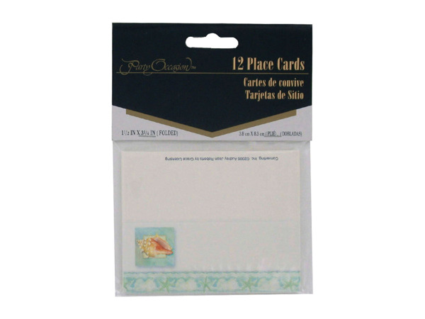 Tranquil Seas place cards, pack of 12