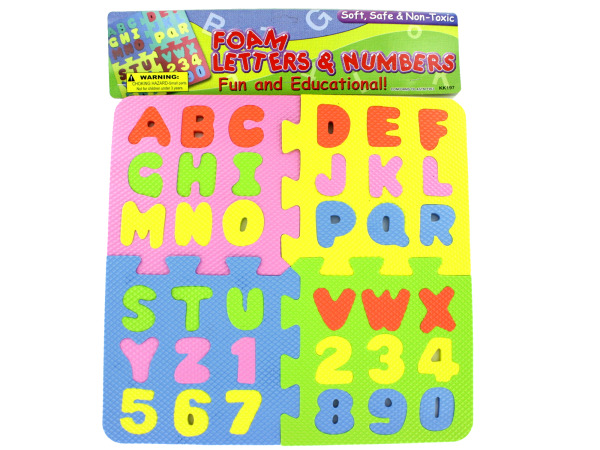 Foam Letter and Number Puzzle