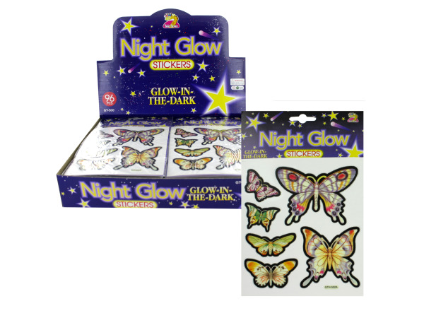 Choice of glow in the dark butterfly stickers