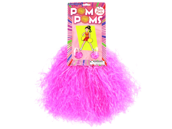 Colored pom poms