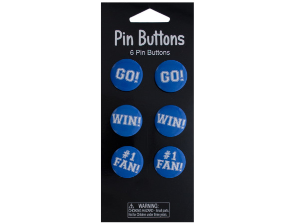 6 pack blue buttons
