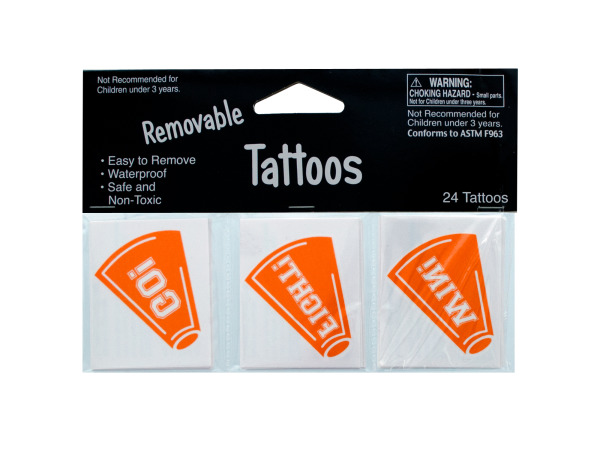 24 pack orange tattoos