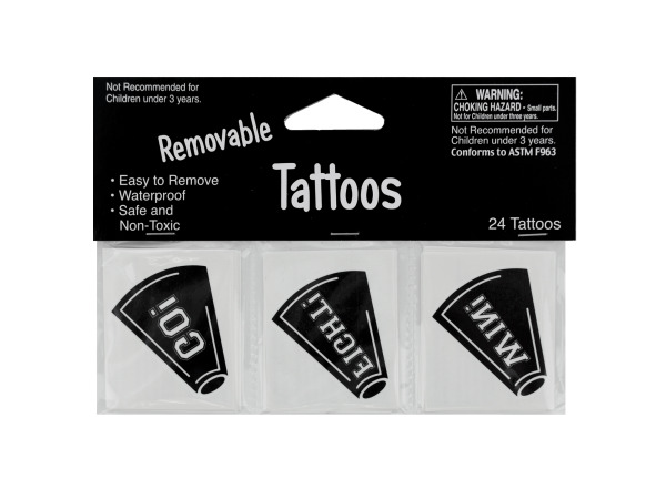 24 pack black tattoos