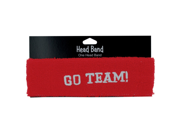 1 pc sgo team red terry cloth headband