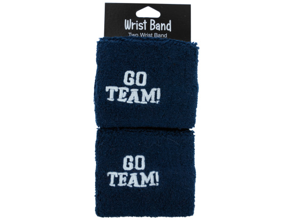 2 pack blue wristbands