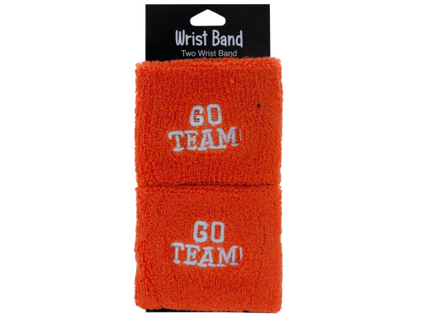 2 pack orange wristbands