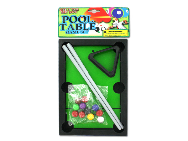 Pool table game set