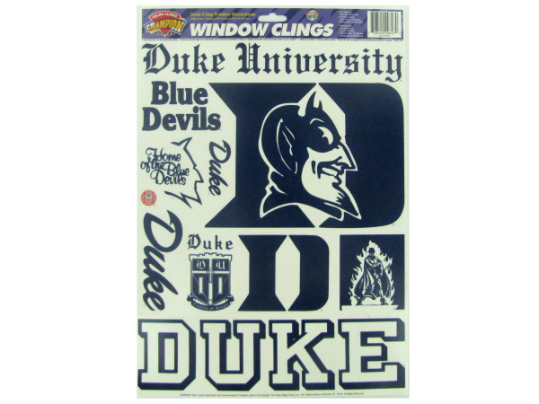 Duke Blue Devils window clings