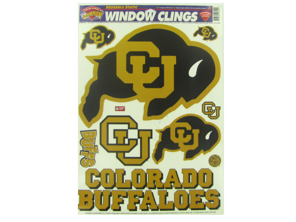 Colorado University Buffaloes window clings
