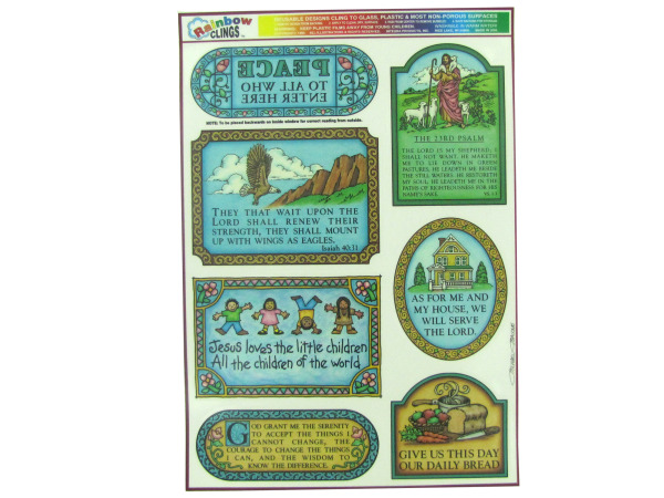 Inspirational window clings, pack of 7