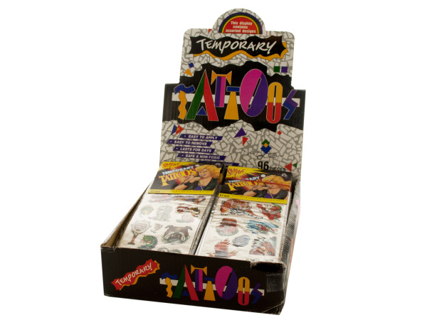 Fantasy Land Temporary Tattoos Counter Top Display