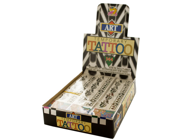Black Tribal Arm Band Temporary Tattoos Counter Top Display