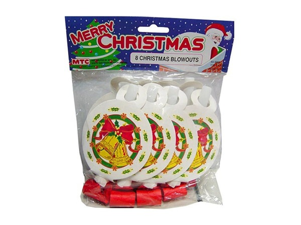 Christmas party blowouts, pack of 8