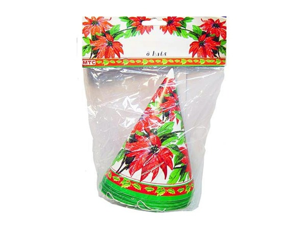 poinsettia 8 party hat