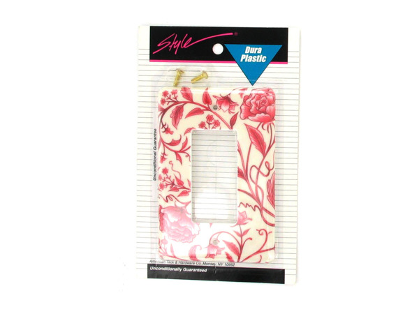 Red floral light cover