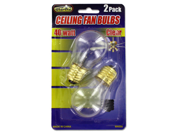 40 Watt ceiling fan bulbs