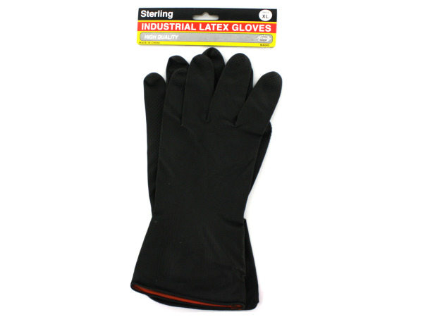 1 Pair of industrial latex gloves