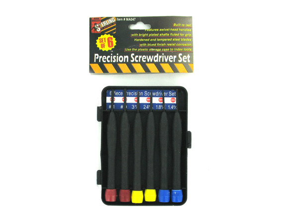 Precision screwdriver set with box