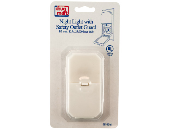 night light with safety outlet guard 125 v