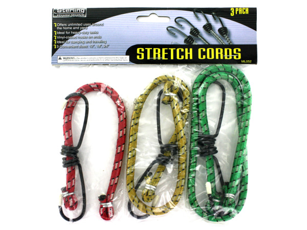 Assorted size stretch cords